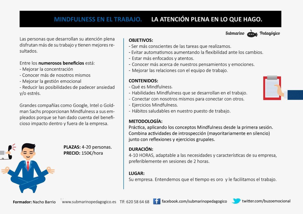 mindfulness trabajo empresa Madrid